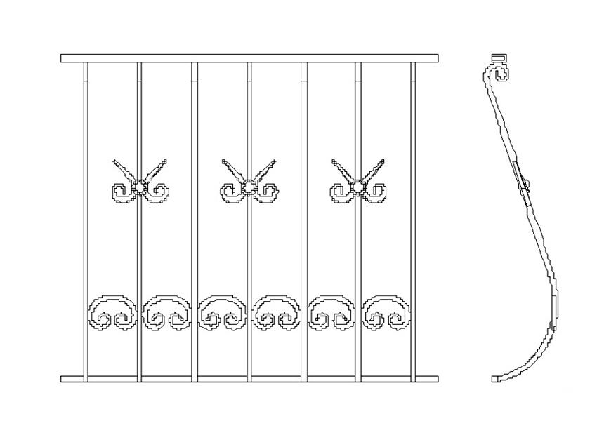 Перила балконные объёмные пб01.